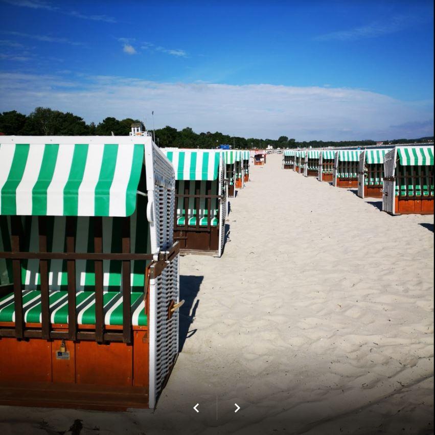 Strandkorb links Mittelreihe